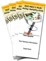 2010 Weird & Wacky Holiday Marketing Guide quarterly booklets